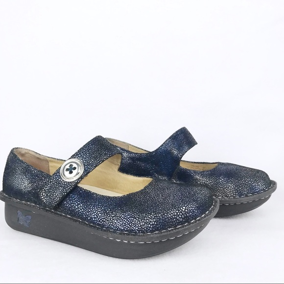 Alegria Shoes   Womens Navy Blue Scale
